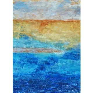 "Laurie MacMillan Abstract ""Sand Bar"" Abstract Seascape For Sale"