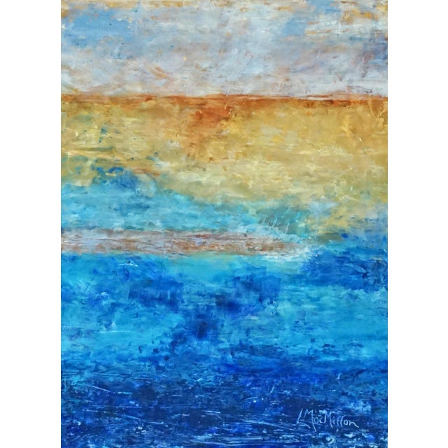 """Laurie MacMillan Abstract """"Sand Bar"""" Abstract Seascape For Sale"""