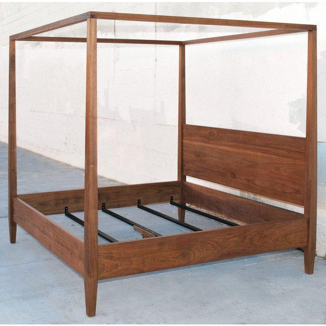Black Walnut King Bed, Custom Made by Petersen Antiques For Sale - Image 4 of 11