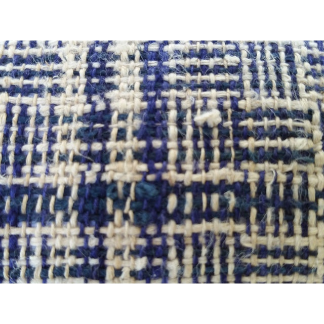 Tribal Indigo Plaid Neck Pillow - Image 4 of 4