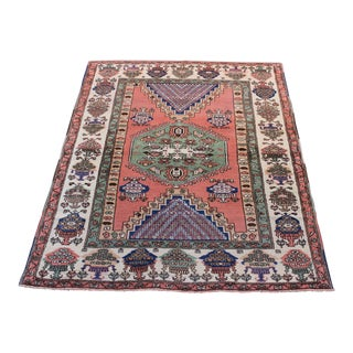 Handmade Turkish Anatolian Konya Rug - 5′4″ × 6′8″ For Sale