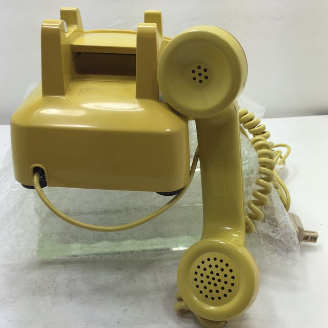 Bright Yellow Rotary Dial Telephone - Image 5 of 11