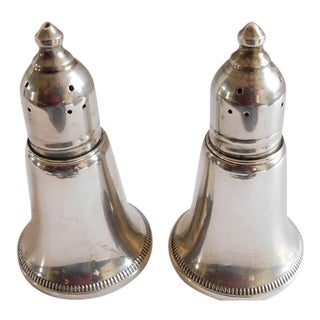 Sterling Vintage Crosby Weighted Salt & Pepper Shakers - a Pair For Sale