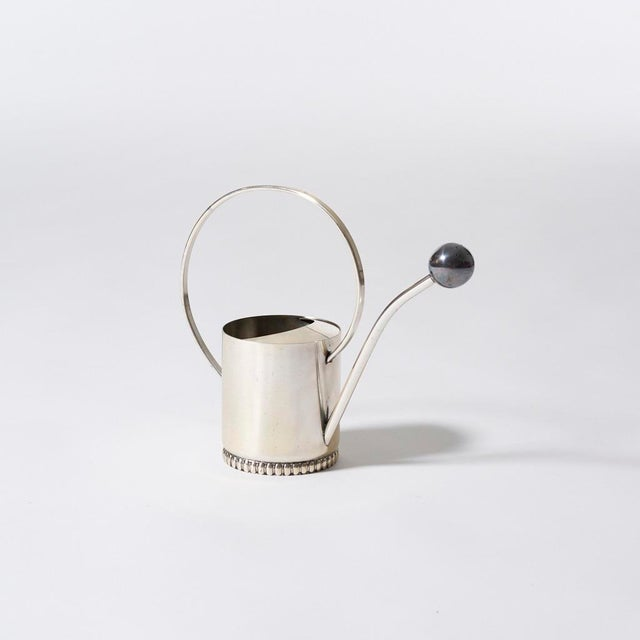 1930s 1930s Vintage Art Deco Silver Plate Watering Can With Removable Ball Spout For Sale - Image 5 of 5