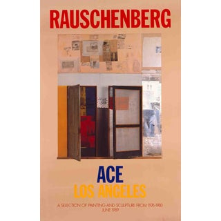 Robert Rauschenberg, a Selection of Painting and Sculpture, 1989 Poster For Sale