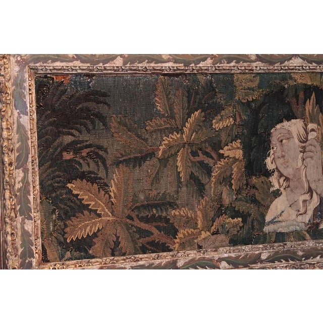 18th Century Framed French Aubusson Tapestry For Sale - Image 4 of 10