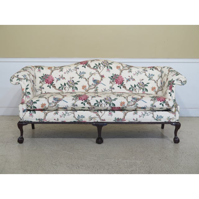 1990s Vintage Hancock & Moore Claw Foot Camelback Sofa For Sale - Image 13 of 13