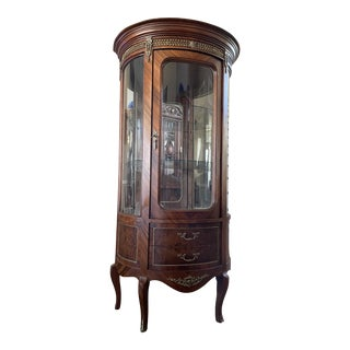 Antique French Louis XVI Style Vitrine For Sale