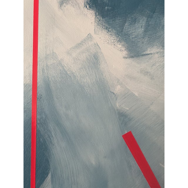"""Abstract Expressionist Axel Abbott Original Acrylic Painting """"Mood Lines Viii"""" For Sale - Image 4 of 5"""