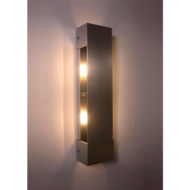 Orphan Work Modern Contemporary 001 Picture Light in Nickel by Orphan Work For Sale - Image 4 of 6
