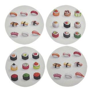 Sushi Coasters, Set of 4 For Sale