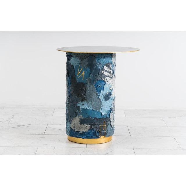 Stefan Rurak Concrete and Steel Occasional Table, Usa, 2019 For Sale - Image 4 of 12