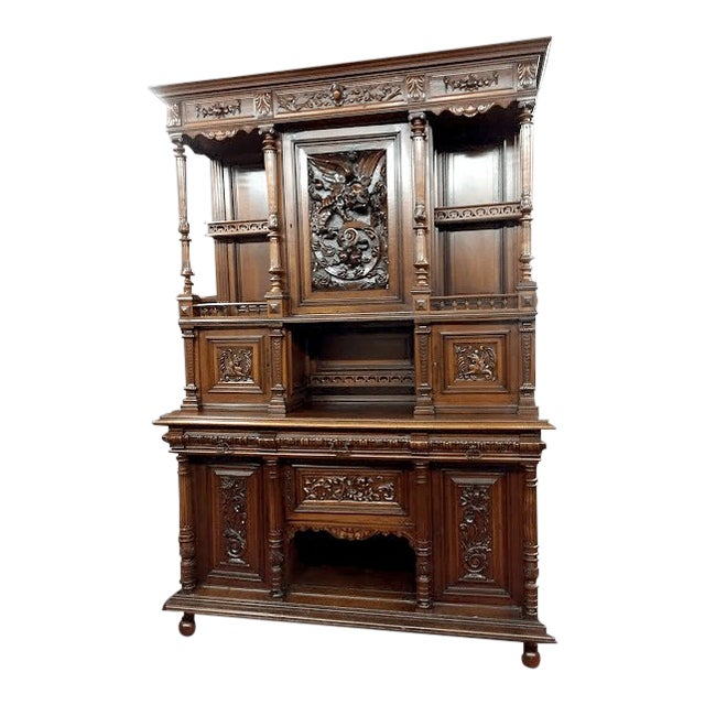 Late 19th Century Antique French Renaissance Style Cabinet For Sale
