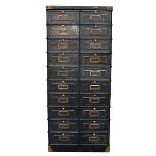 Early 20th Century French Industrial Metal Cabinet For Sale