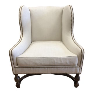 New Michael Taylor Lauro Wing Chair For Sale