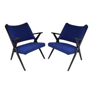 Mid-Century Italian Armchairs by Dal Vera, 1950's - a Pair For Sale