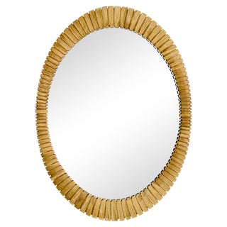 Francisco Hurtado-Style Oval Mirror For Sale