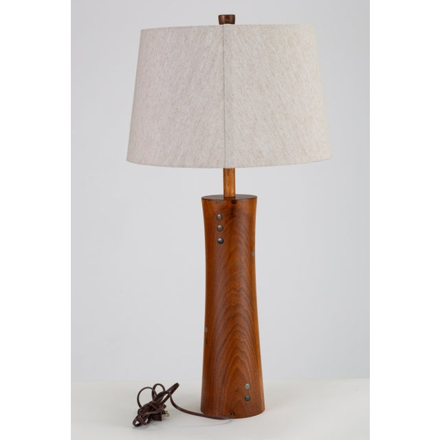 Mid-Century Modern Wooden Table Lamp With Tile Inlay by Gordon & Jane Martz For Sale - Image 3 of 10