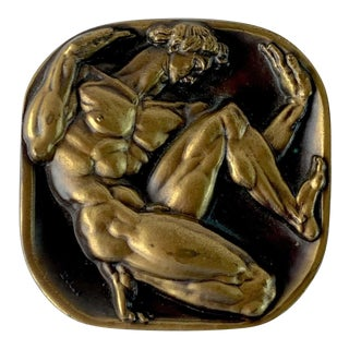 'Bursting the Bounds / Back of Man' by Donald De Lue, Society of Medallists For Sale