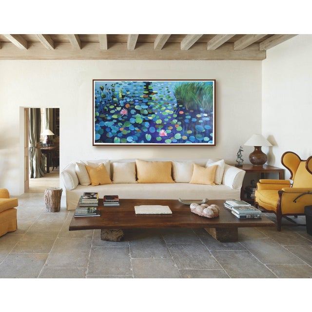 Large Waterlily Sunset Acrylic Painting For Sale - Image 5 of 7