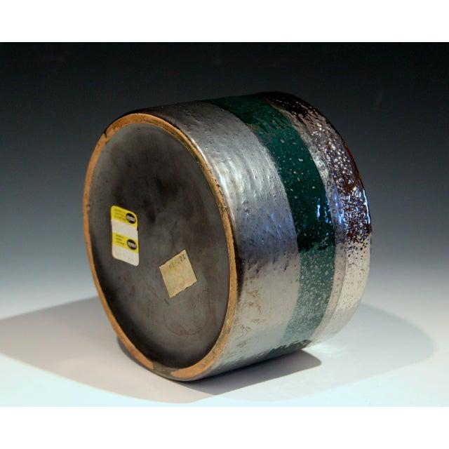 Vintage Bitossi Londi Raymor Metallic Vase For Sale In New York - Image 6 of 11