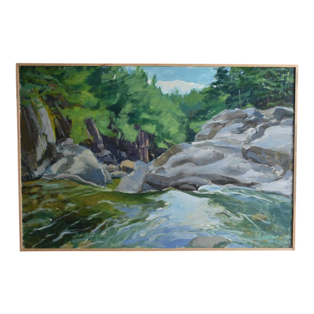 """Contemporary Plein Air Painting, """"Above the Falls"""", by Stephen Remick For Sale"""