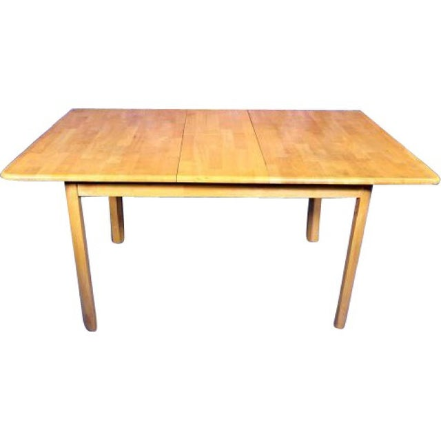 Mid-Century Modern Mid-Century Modern Wooden Dining Kitchen Table For Sale - Image 3 of 10