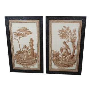 Pair of Scalamandre Italian Neoclassical Prints For Sale