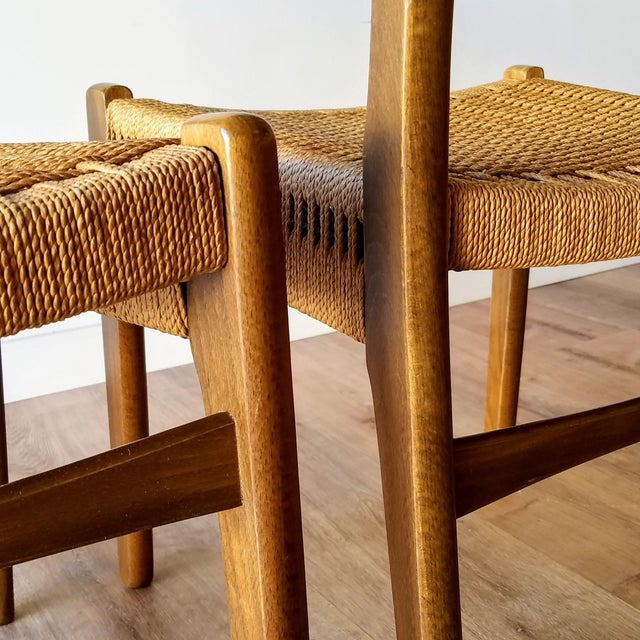 Swedish Mid-Century Modern Rope Dining Chairs - a Pair For Sale - Image 11 of 13