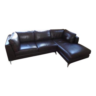 Design Within Reach by Nicoletti Leather Sectional For Sale