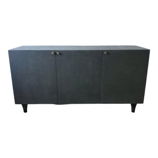 Contemporary Made Goods Ramon Faux Raffia 3-Door Buffet For Sale