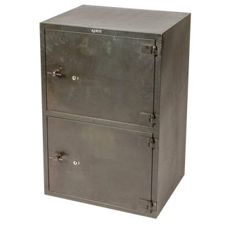 1900 English Steel Cabinet With Two Doors For Sale
