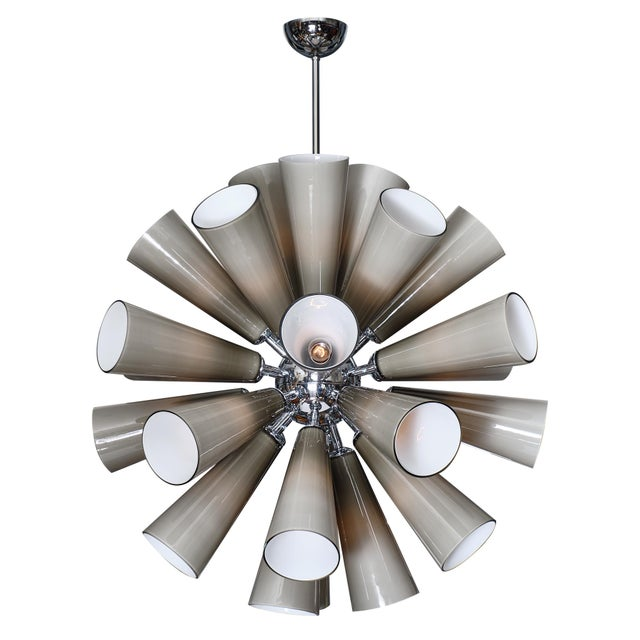 Murano Glass Gray Sputnik Chandelier For Sale - Image 10 of 10
