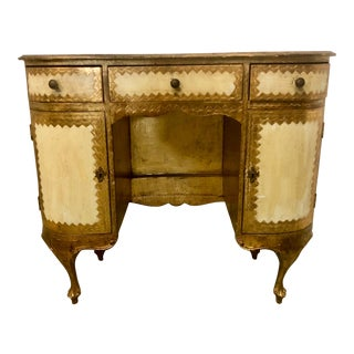 Italian Florentine Desk / Vanity For Sale