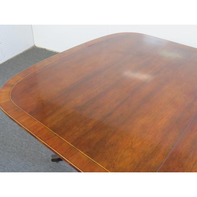 Mid 20th Century Baker Georgian Style Double Pedestal Dining Table For Sale - Image 5 of 11