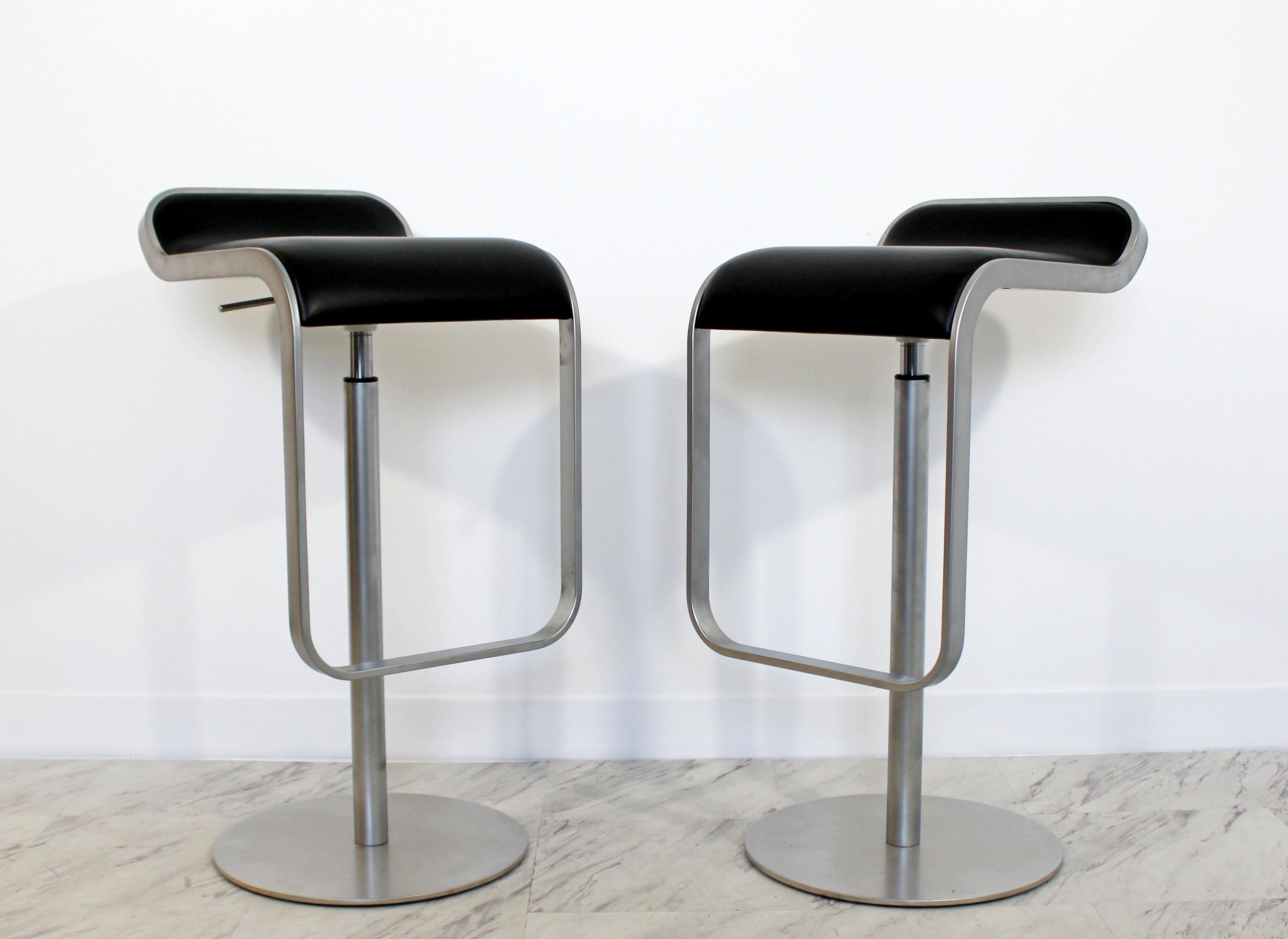exceptional mid century modern lapalma pair of aluminum swivel bar 1970s Bar Stools
