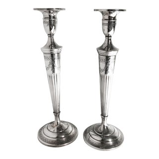 Sterling Candlesticks, Pair For Sale