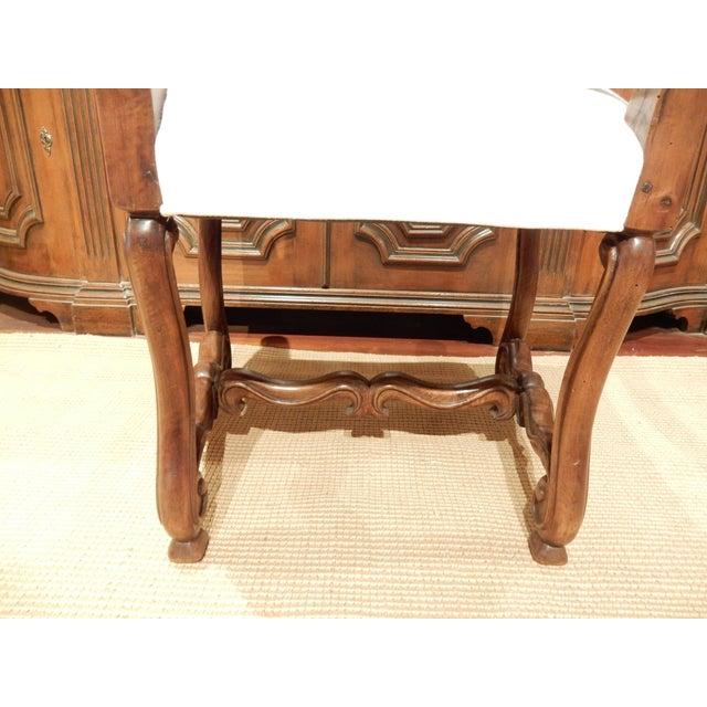 Wood Late 19th Century Italian Walnut Armchair For Sale - Image 7 of 9