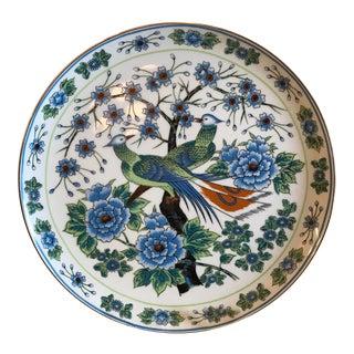 Vintage Japanese Peacock Plate
