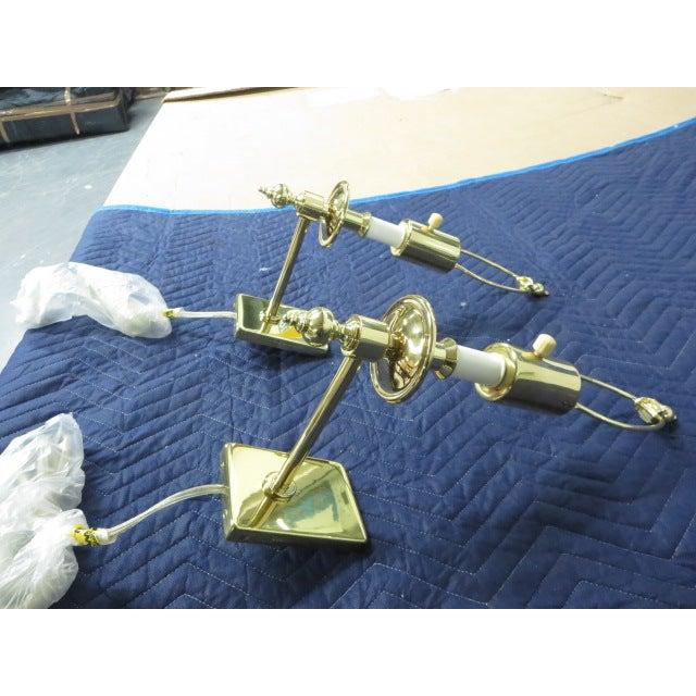Brass Single Arm Hinson Sconces - 2 - Image 3 of 6