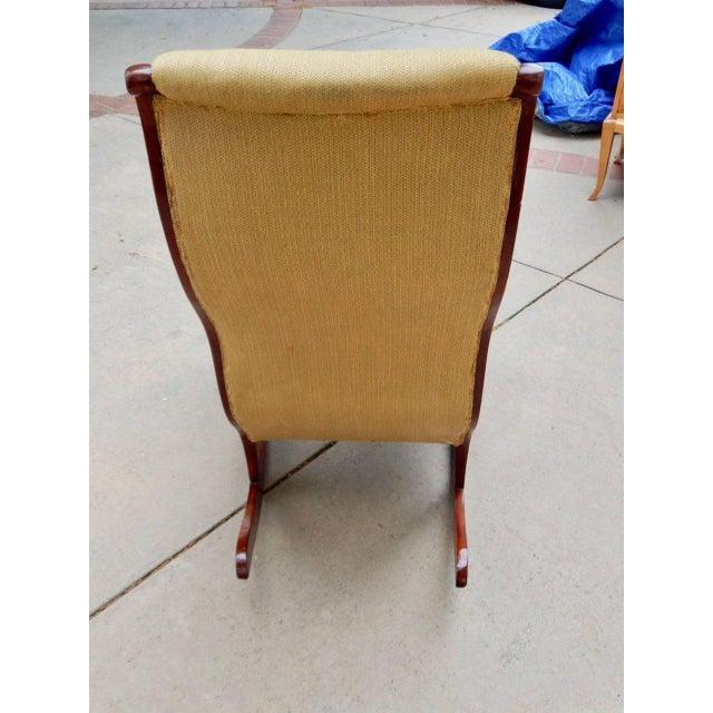 19th Century Antique Swedish Biedermeier Rocking Chair For Sale - Image 10 of 13