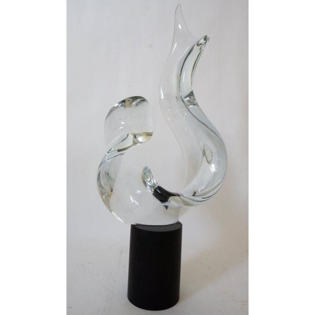 Mid-Century Modern Mid-Century Modern Seguso Signed Abstract Sculpture in Murano Glass For Sale - Image 3 of 11