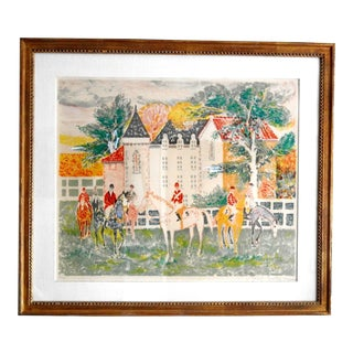 Jean Lareuse Signed Lithograph For Sale