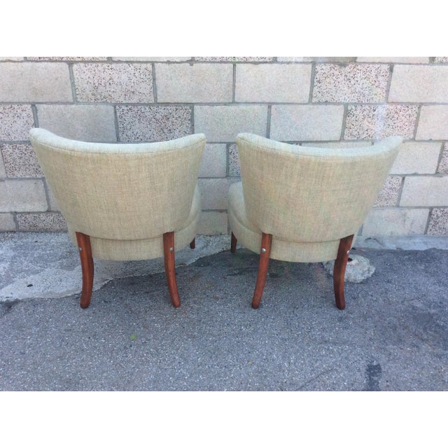 Mid-Century Modern Mid-Century Slipper Chairs- A Pair For Sale - Image 3 of 7