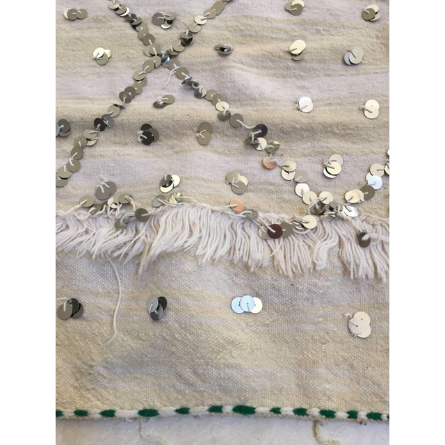 Mid 20th Century Moroccan Wedding Berber Blanket For Sale - Image 5 of 10