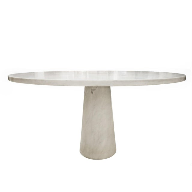 Angelo Mangiarotti Marble Round Dining Table, 1970s For Sale - Image 6 of 6