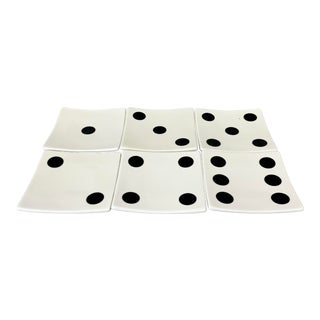 Dice Hors D'Oeuvres Plates- Set of 6 For Sale