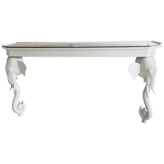 Gampel-Stoll White Elephant Console Table - Image 11 of 12