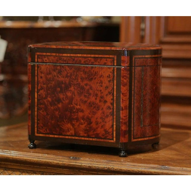 19th Century French Napoleon III Walnut and Burl Complete Cave a Liqueur For Sale - Image 4 of 13