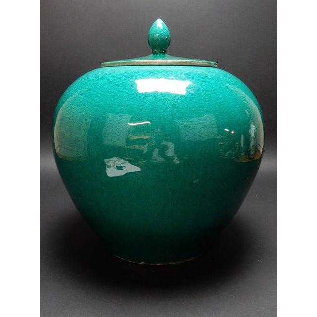 Chinese Crackle Glazed Ginger Jar - Image 9 of 11